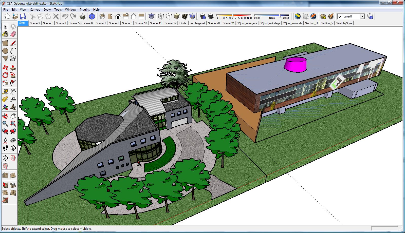 C3a ontwerpstudie met sketchup pro c3a for Programa para disenar jardines