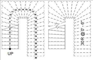trap tekenen autocad aanbouw huis voorbeelden